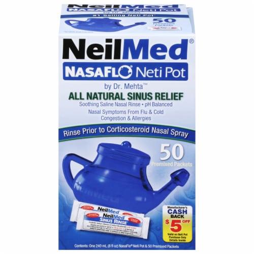 NeilMed Nasaflo Neti-Pot Nasal Wash System Perspective: front
