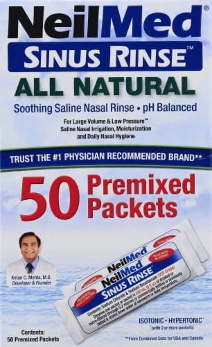 NeilMed Sinus Rinse All Natural Premixed Packets Perspective: front