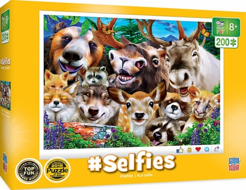 Selfies Woodland Wackiness 200 Piece Jigsaw Puzzle Perspective: front