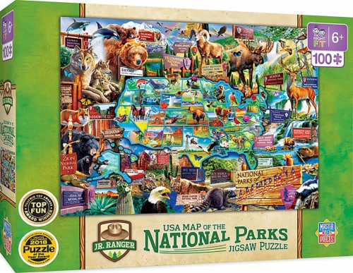 Wildlife of the National Parks 100 Piece Jigsaw Puzzle Perspective: front