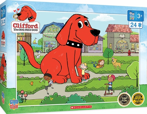 Clifford the Big Red Dog Town Square 24 Piece Jigsaw Puzzle Perspective: front