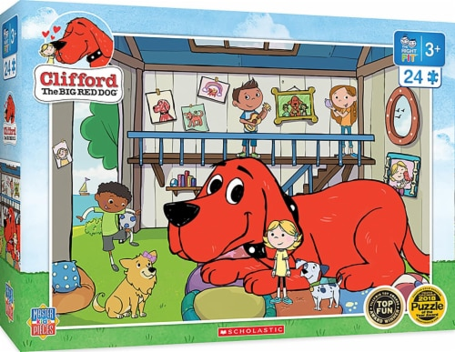 Clifford the Big Red Dog Doghouse 24 Piece Jigsaw Puzzle Perspective: front
