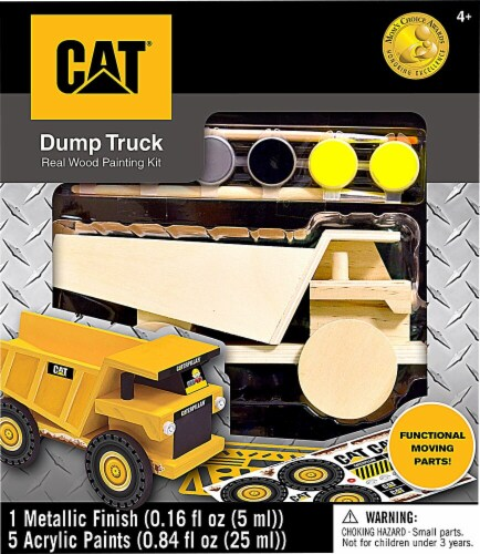 MasterPieces Caterpillar Dump Truck Wood Painting Set Perspective: front