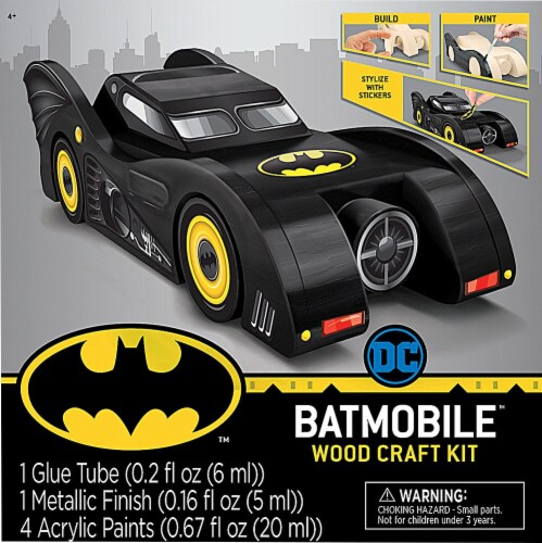 MasterPieces Batmobile™ Wood Craft Kit Perspective: front