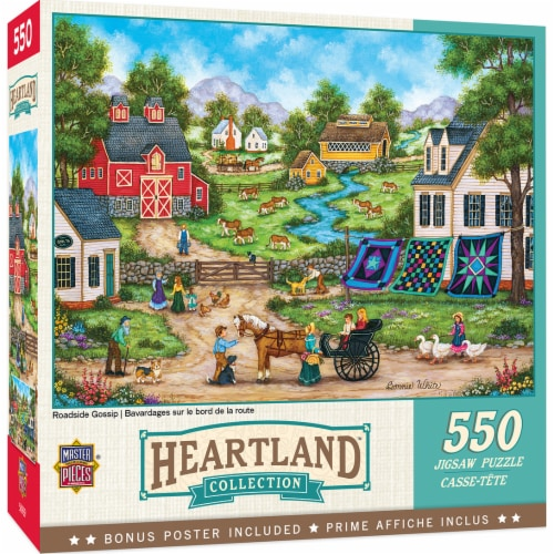MasterPieces Heartland Roadside Gossip Jigsaw Puzzle Perspective: front