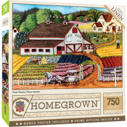 MasterPieces Homegrown Fresh Flowers Puzzle Perspective: front