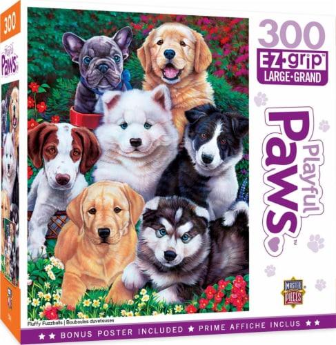 Fluffy Fuzzballs 300 Piece Large EZ Grip Jigsaw Puzzle Perspective: front