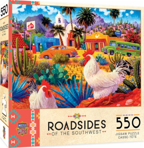 MasterPieces Roadsides of the Southwest Gallos Blancos Puzzle Perspective: front