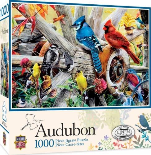 MasterPieces Audubon Backyard Birds Puzzle Perspective: front