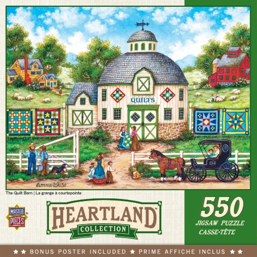 MasterPieces Heartland Collection The Quilt Barn Puzzle Perspective: front