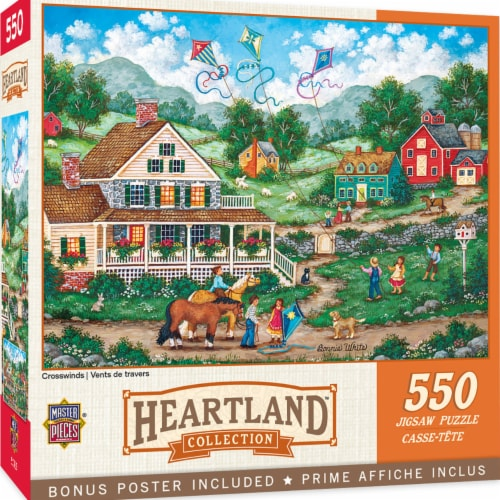 MasterPieces Heartland Collection Crosswinds Puzzle Perspective: front