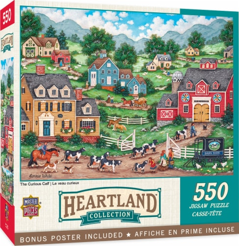 MasterPieces Heartland Collection - The Curious Calf 550pc Puzzle Perspective: front