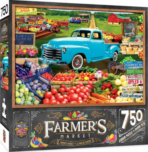 MasterPieces Farmer's Market Locally Grown Puzzle Perspective: front