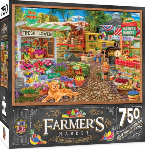 MasterPieces Farmer's Market Sale on the Square Puzzle Perspective: front