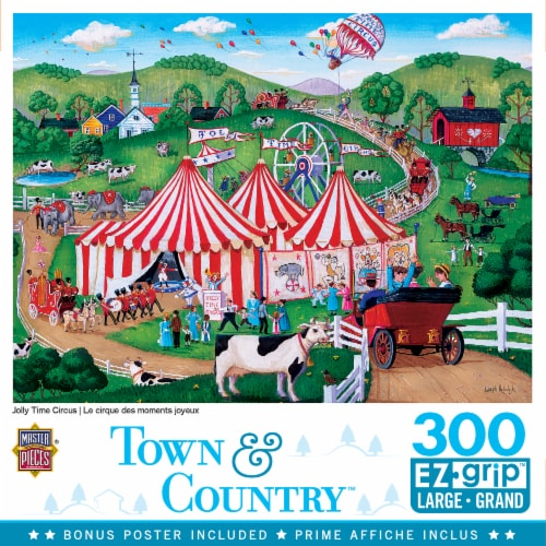 MasterPieces Town & Country - Jolly Time Circus 300pc EzGrip Puzzle Perspective: front