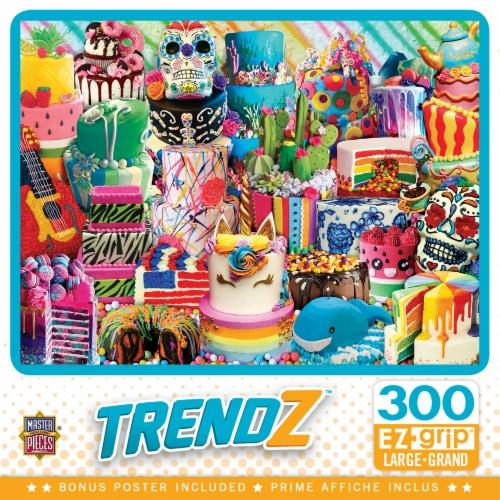 MasterPieces Trendz Fancy Cakes EZ Grips Large Jigsaw Puzzle Perspective: front