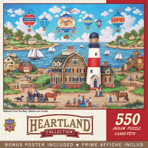 MasterPieces Heartland Balloons over the Bay Jigsaw Puzzle Perspective: front
