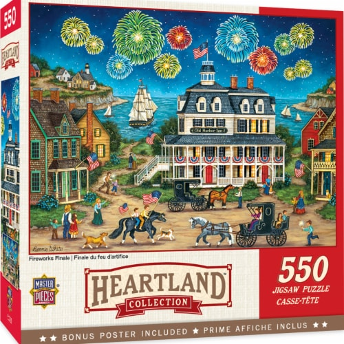 MasterPieces Heartland Puzzles Collection - Fireworks Finale 550 Piece Jigsaw Puzzle Perspective: front