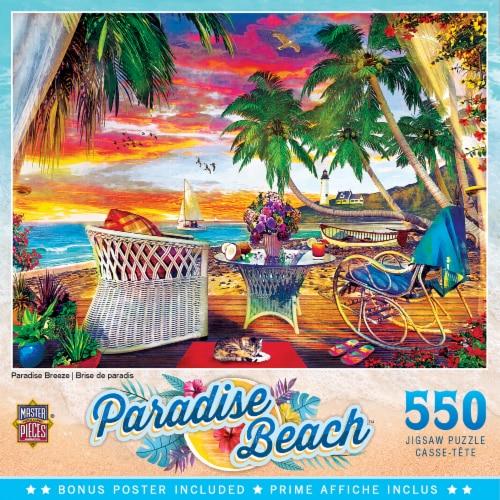 MasterPieces Paradise Beach Puzzles Collection - Paradise Breeze 550 Piece Jigsaw Puzzle Perspective: front