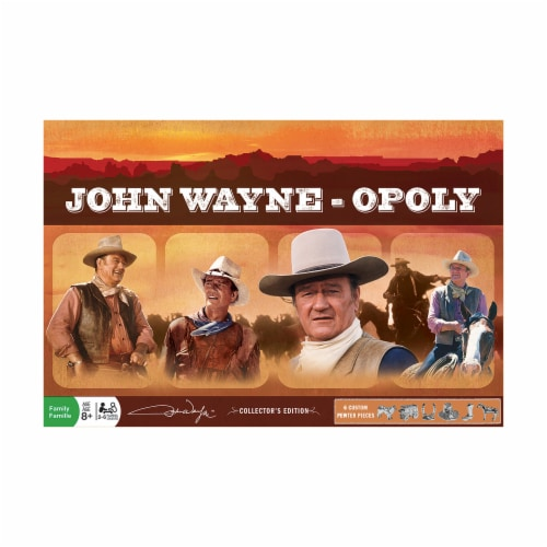 MasterPieces Collectors Edition Set John Wayne Opoly Perspective: front