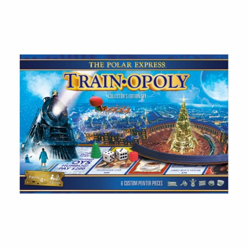 Masterpieces Collectors Edition Set The Polar Express Train Opoly Perspective: front