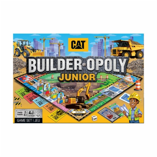MasterPieces CAT Builder-opoly Junior Board Game Perspective: front
