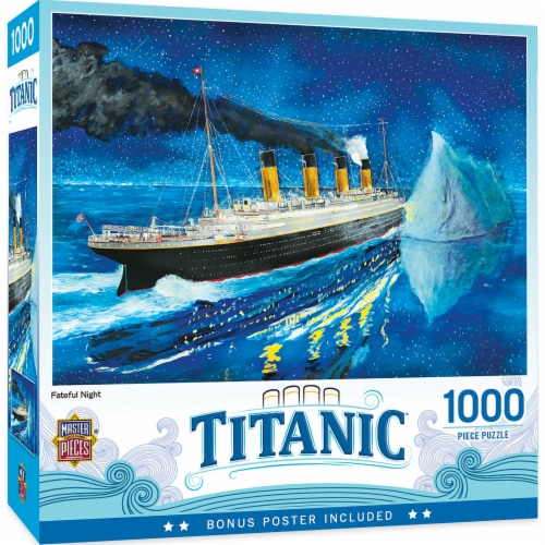 MasterPieces Titanic Series - Titanic At Sea Iceburg 1000 Piece Jigsaw Puzzle Perspective: front
