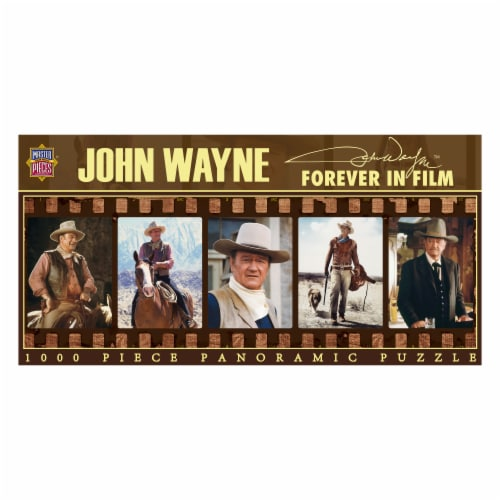 MasterPieces John Wayne Forever In Film Panoramic Puzzle Perspective: front