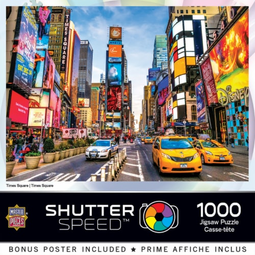 MasterPieces Shutter Speed Times Square Jigsaw Puzzle Perspective: front