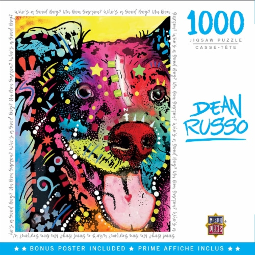 Dean Russo Whos a Good Boy? 1000 Piece Jigsaw Puzzle Perspective: front
