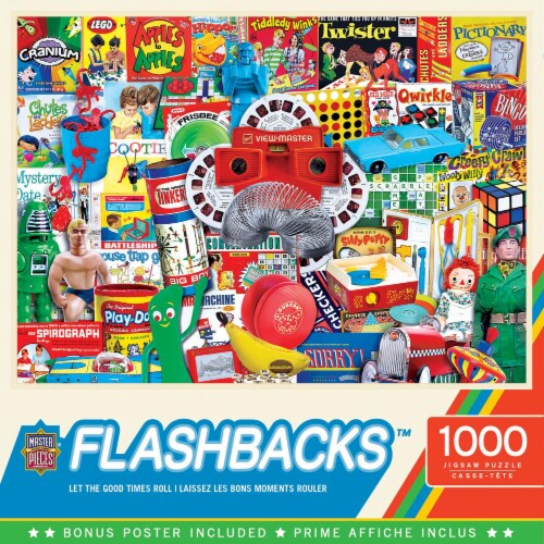 Master Pieces Flashback 1000 Piece Jigsaw Puzzle Perspective: front