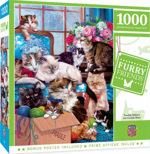 Furry Friends Trouble Makers 1000 Piece Jigsaw Puzzle Perspective: front