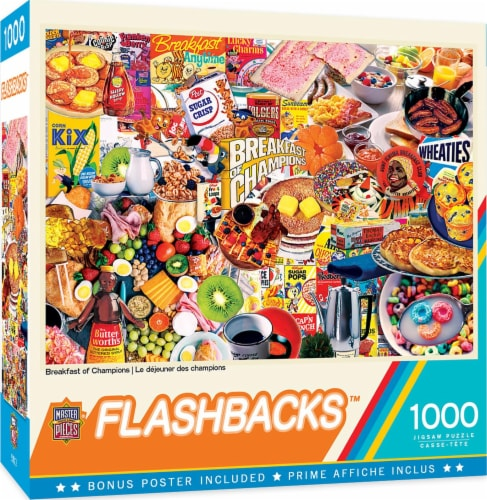 Flashbacks Breakfast of Champions Jigsaw Puzzle Perspective: front