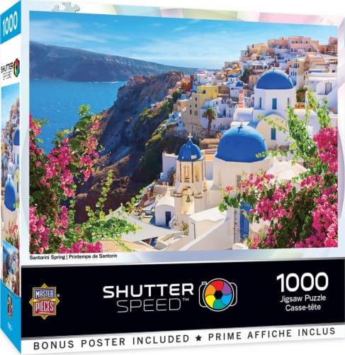 MasterPieces Shutter Speed Santorini Spring Jigsaw Puzzle Perspective: front