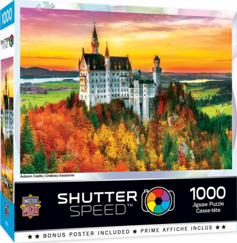 MasterPieces Shutter Speed Autumn Castle Jigsaw Puzzle Perspective: front