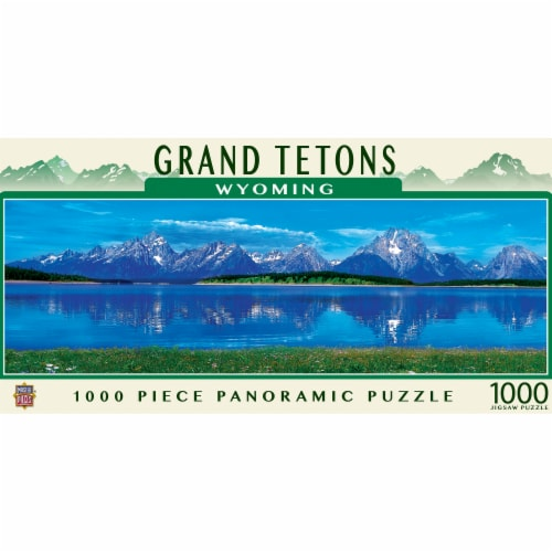 MasterPieces American Vistas - Grand Tetons 1000 Piece Panoramic Jigsaw Puzzle Perspective: front