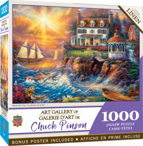 MasterPieces® Chuck Pinson Art Gallery Above the Fray Jigsaw Puzzle Perspective: front