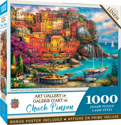 MasterPieces® Chuck Pinson Gallery A Beautiful Day at Cinque Terre Puzzle Perspective: front