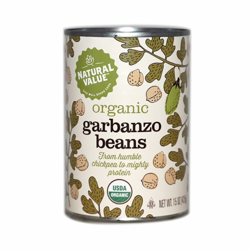 Natural Value Organic Garbanzo Beans / 15-oz. cans / 12-ct. case Perspective: front
