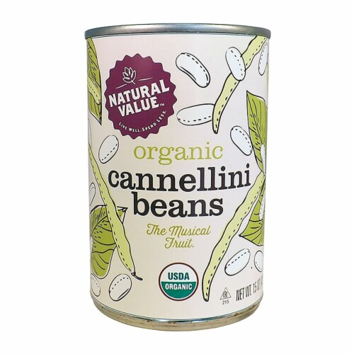 Natural Value Organic Cannellini Beans / 15 oz. cans / 12-ct. case Perspective: front