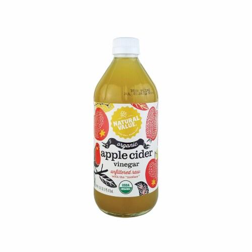 Natural Value 16 oz. Organic Apple Cider Vinegar / 12-ct. case Perspective: front