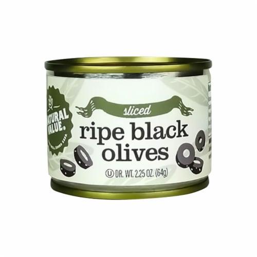 Natural Value Sliced Black Olives / 2.25-oz. Cans / 24-ct. case Perspective: front