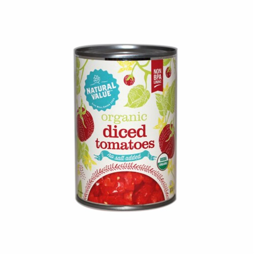 Natural Value 14.5 oz. Organic DICED Tomatoes / 12-ct. case Perspective: front