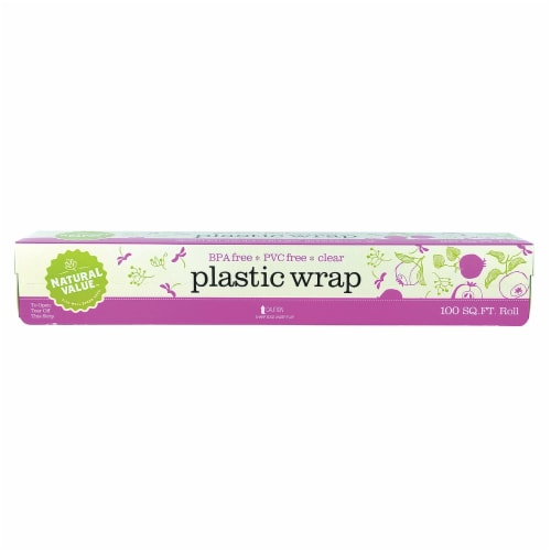 Natural Value® Clear Plastic Wrap Perspective: front