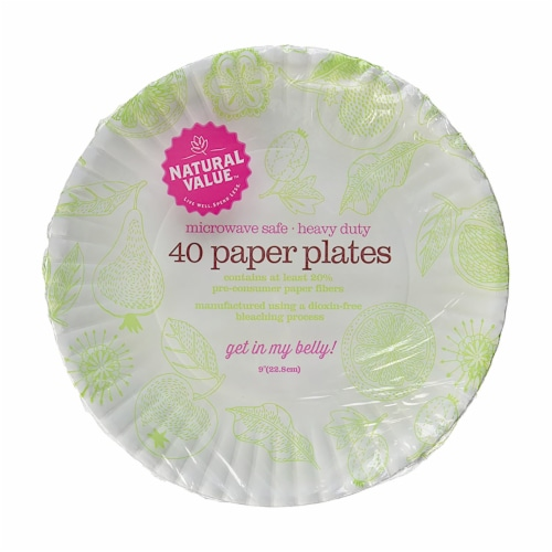 Natural Value™ Paper Plates Perspective: front