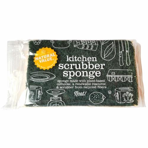 Natural Value Kitchen Scrubber Sponge Perspective: front