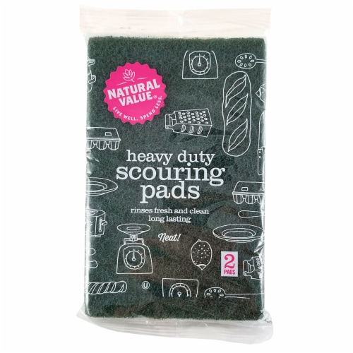 Natural Value Scouring Pads Perspective: front