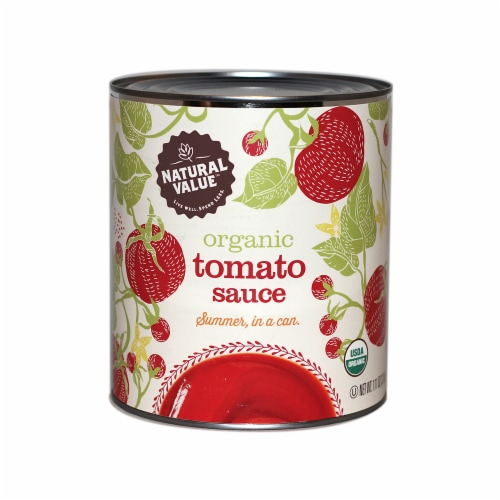 106-oz. Natural Value Food Service Size Organic Tomato Sauce / 6-ct. case Perspective: front