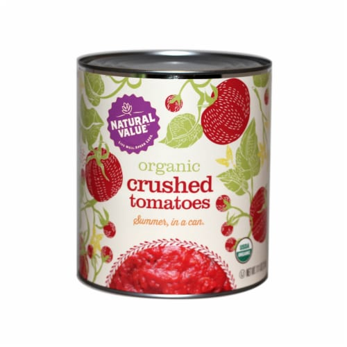 106-oz. Natural Value Food Service Size Organic CRUSHED Tomatoes / 6-ct. case Perspective: front
