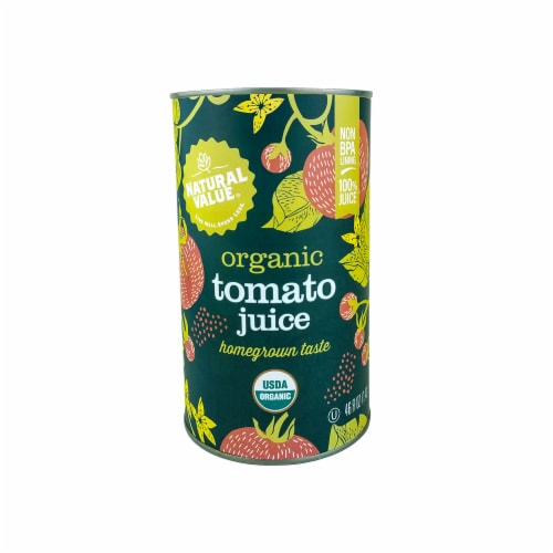 Natural Value 46 oz. Organic Tomato Juice / 12-ct. Case Perspective: front